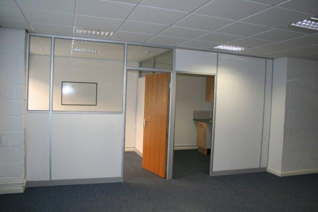 View to Manager's office and kitchen